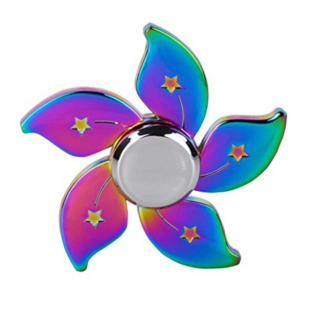 Rainbow Chameleon Flower Metal Edc Fidget Spinner Magic