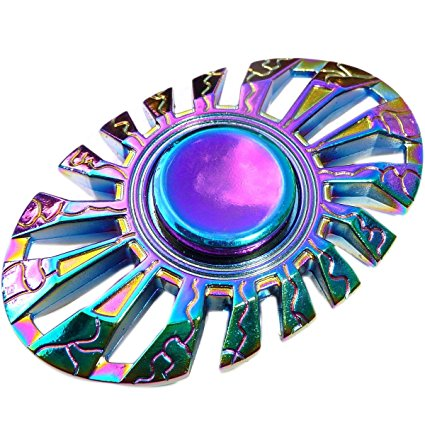 Rainbow Chameleon Oval Metal EDC Fidget Spinner All Products