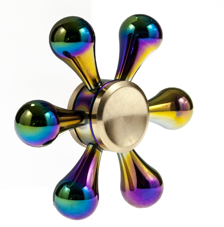 Rainbow Chameleon Teardrop Metal EDC Fidget Spinner All Products