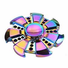 Rainbow Chameleon Windmill Heptagon Metal EDC Fidget Spinner All Products