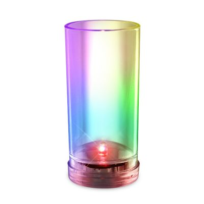 Push Activated Tall and Slender Shot Shooter Multicolored Flashing Glass for Parties All Products