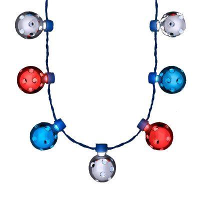 Red White Blue Firework Metallic Disco Balls Lighting Flashing Rays  4th of July 4th of July