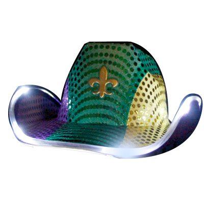 Light Up Flashing Fleur De Lis Cowboy Hat All Products