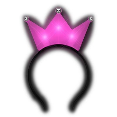 3 Jeweled Hot Pink Princess Crown Headbands All Products