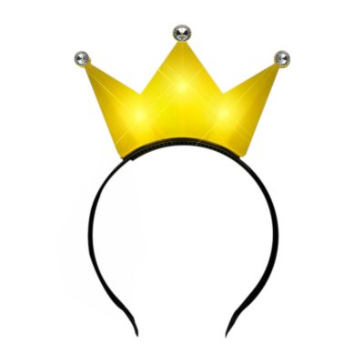 3 Jeweled Yellow Princess Crown Headbands All Products