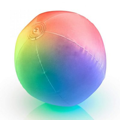 32 Inch Multicolored Inflatable Light Up Beach Ball All Products