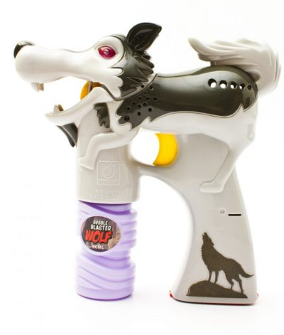 Light Up Wolf Bubble Blaster Gun Grey All Products