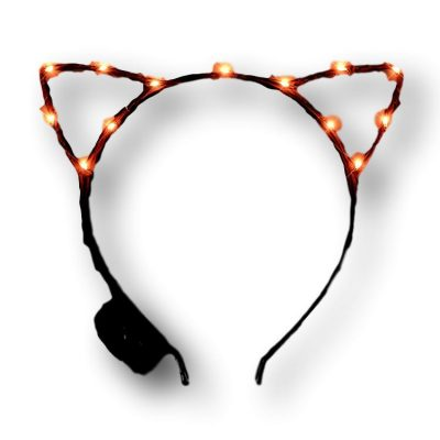 Orange LED Kitty Cat Ear Headband All Products
