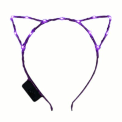 Purple LED Kitty Cat Ear Headband All Products
