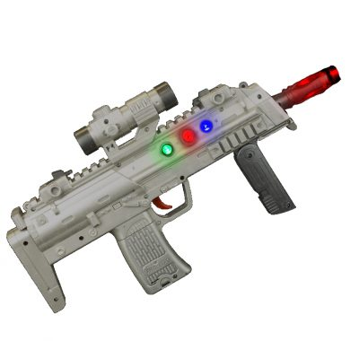 13 Inch Light Up High Technology Rifle With Sound Effects All Products