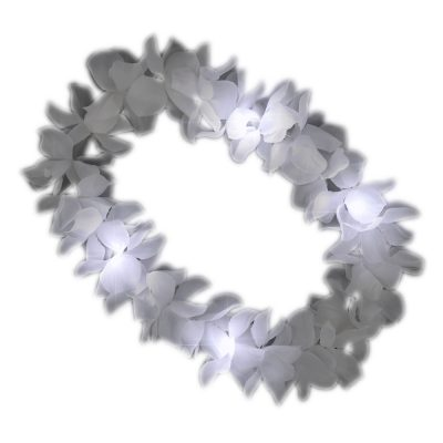 White Flashing Hawaiian Lei Necklace All Products
