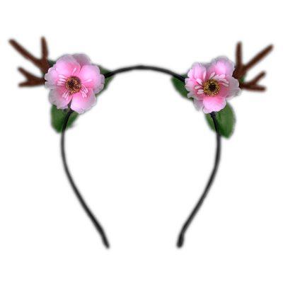 Light Up Flower Deer Lighted Antler Headband All Products