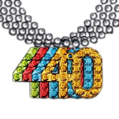 40 Charm on Beads Happy Birthday Bead Necklace Assorted Pack of 12 Unlit All Products