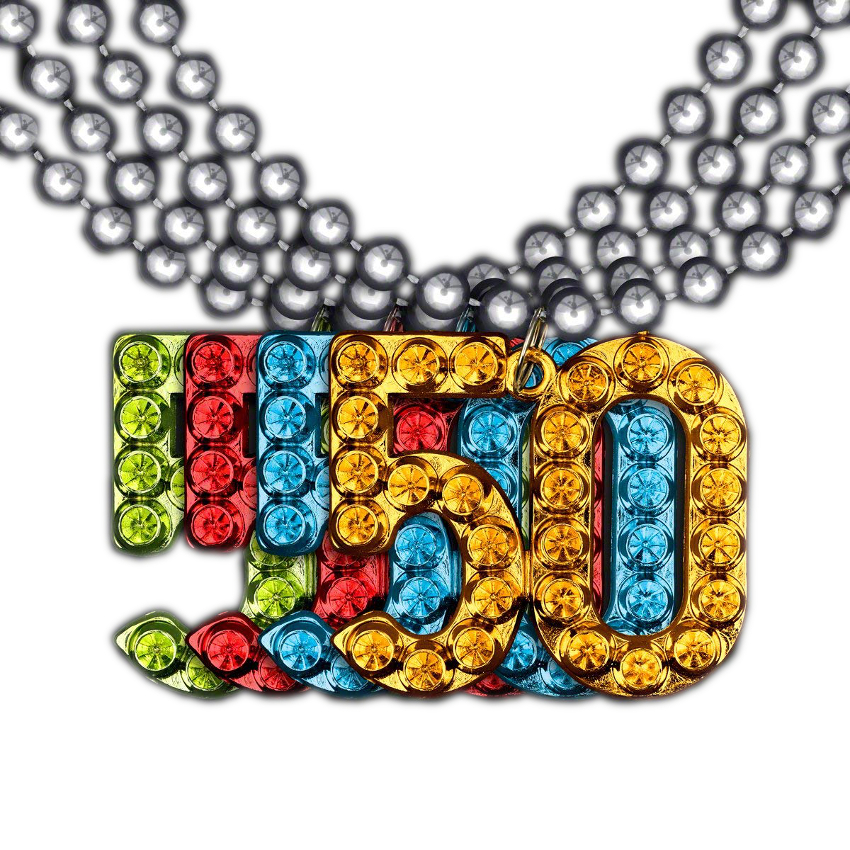 May The 4th Be With You Necklace: 50 Charm On Beads Happy Birthday Bead Necklace Assorted