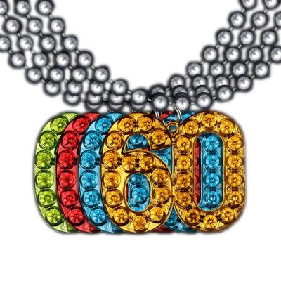 60 Charm on Beads Happy Birthday Bead Necklace Assorted Pack of 12 Unlit All Products