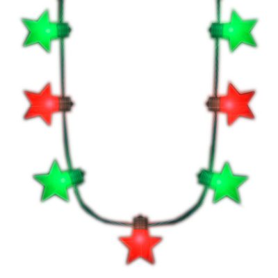 Christmas Stars Red Green LED String Lights Necklace All Products
