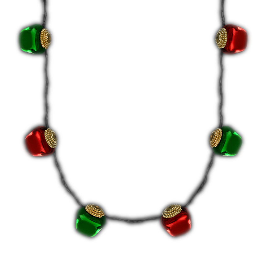 Jingle Bells Flashing Christmas Necklace All Products