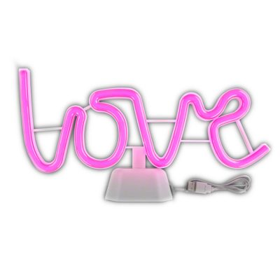 USB LOVE LED Desk Sign Neon Pink All Products
