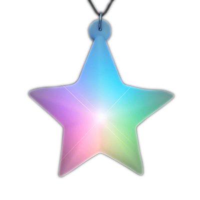 Multicolored Aurora Star Pendant Black Cord Necklace All Products