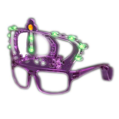 Mardi Gras King Crown LED Sunglasses All Products