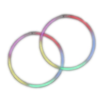Rainbow Glow Necklaces Tube of 100 4th of July