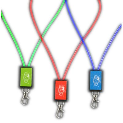 Assorted Light Up Luminous Lanyard Pack of 6 All Products