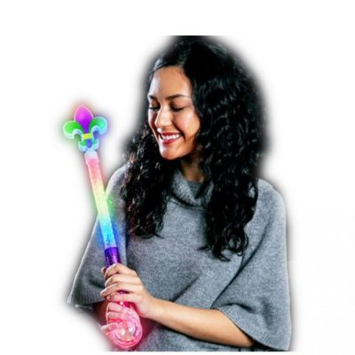 Light Up Fleur De Lis Wand Prism Ball All Products