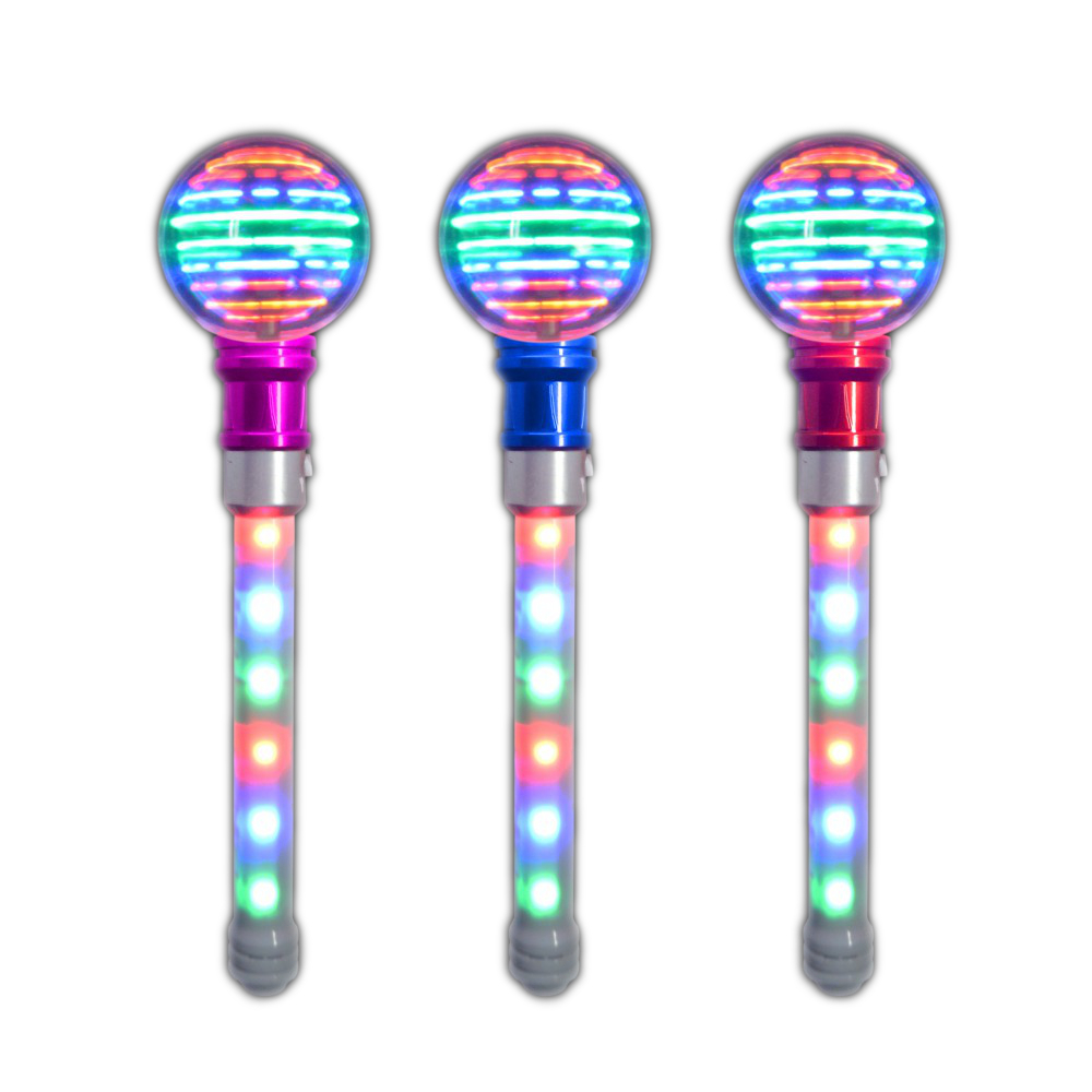 Supersphere Spinning Wands with LED Handle Pack of 12 All Products