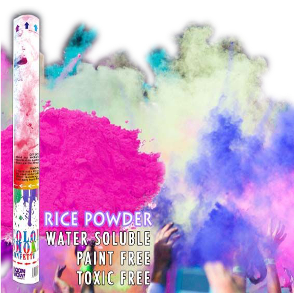 Color Powder Gender Reveal >> Pink Holi Powder Gender Reveal Confetti Cannon 18 Inch