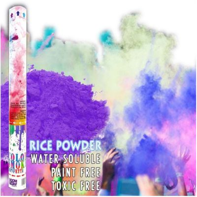 Purple Holi Powder Confetti Cannon 18 Inch All Products