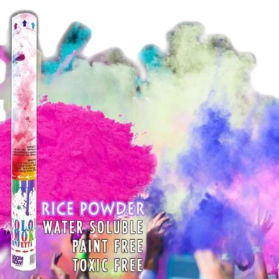 Pink Holi Powder Gender Reveal Confetti Cannon 18 Inch All Products
