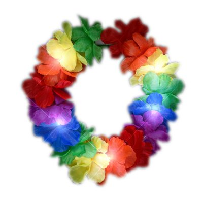 Light Up Rainbow Hawaiian Stretch Flower Crown All Products