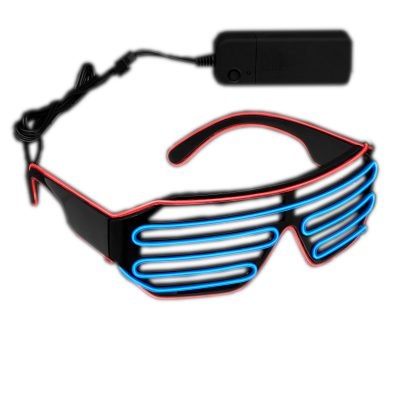 Ultra Electro Luminescent Sunglasses Blue and Red All Products
