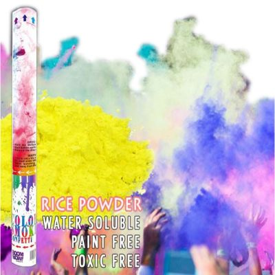 Yellow Holi Powder Confetti Cannon 18 Inch All Products