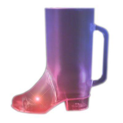 Flashing Beer Boot Drinking Mug Multicolor 4th of July