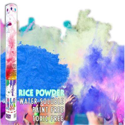 Blue Holi Powder Confetti Cannon 18 Inch All Products