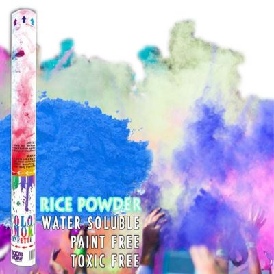Blue Holi Powder Gender Reveal Confetti Cannon 18 Inch All Products