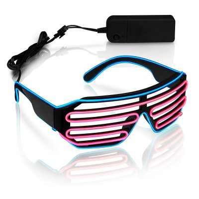 Ultra Electro Luminescent Sunglasses Blue and Pink All Products
