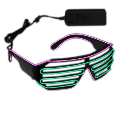 Ultra Electro Luminescent Sunglasses Pink and Green All Products