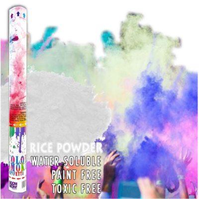 White Holi Powder Confetti Cannon 18 Inch All Products