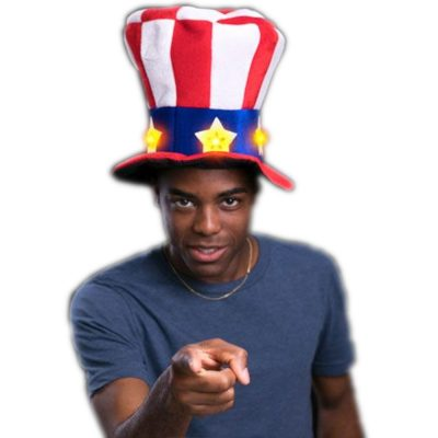 Red White Blue Uncle Sam Plush Star Hat 4th of July