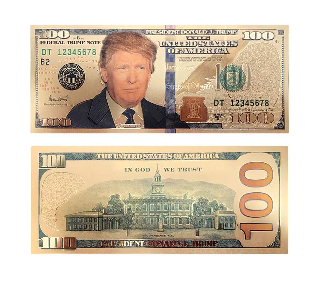 Lot of 100 Fake Dollar Bills Donald Trump 2019
