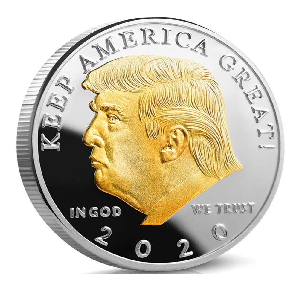 PRESIDENT TRUMP 2020 Silver /& Gold EAGLE Commemorative Coin Nice!