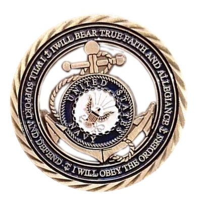 US Navy Core Values Commemorative Coin All Products