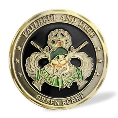 US Army Green Barret Special Forces Faithful and True Commemorative Coin All Products