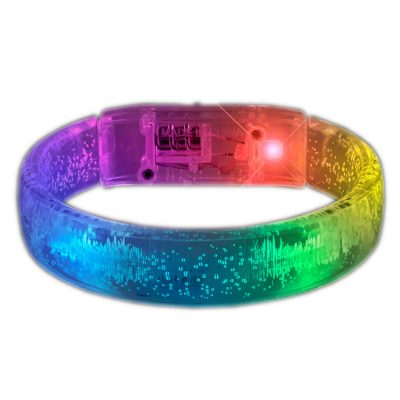 Light Up Acrylic Bubble Bangle Flashing Bracelet Multicolor All Products