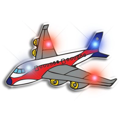 Airplane Flashing Body Light Lapel Pins All Body Lights and Blinkees