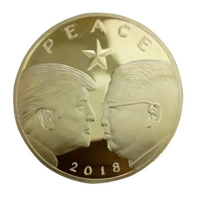 Peace 2018 Donald Trump and Kim Jong Un Commemorative Gold Coin All Products