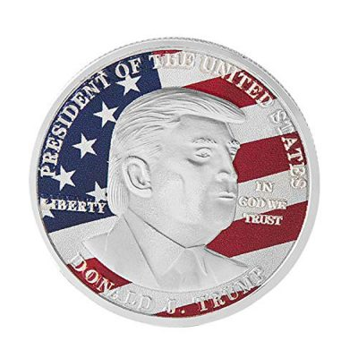 45th US President Donald Trump on USA Flag Commemorative Silver Coin All Products