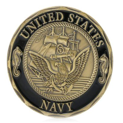 US Navy Crossing The Line Shellback Bronze Challenge Coin All Products